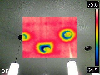 Air gap at kitchen lights
