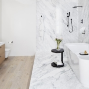elegant white bathroom | On Target Home Inspection | Dream Bathroom Orland Park