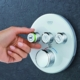 3 shower knobs | On Target Home Inspection| bathroom installation Orland Park