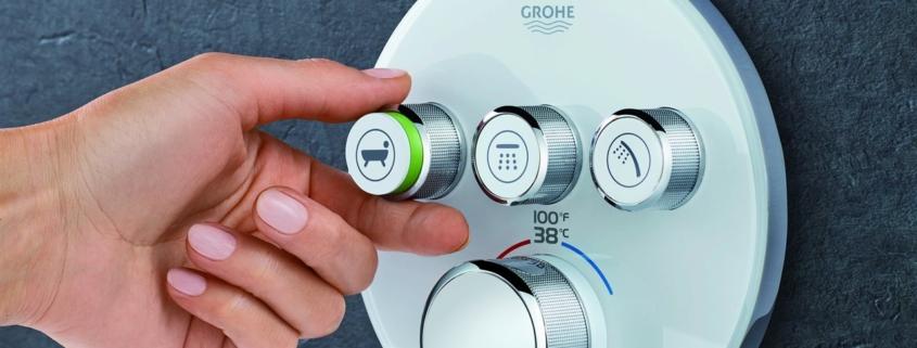 3 shower knobs | On Target Home Inspection| bathroom installation Orland Park