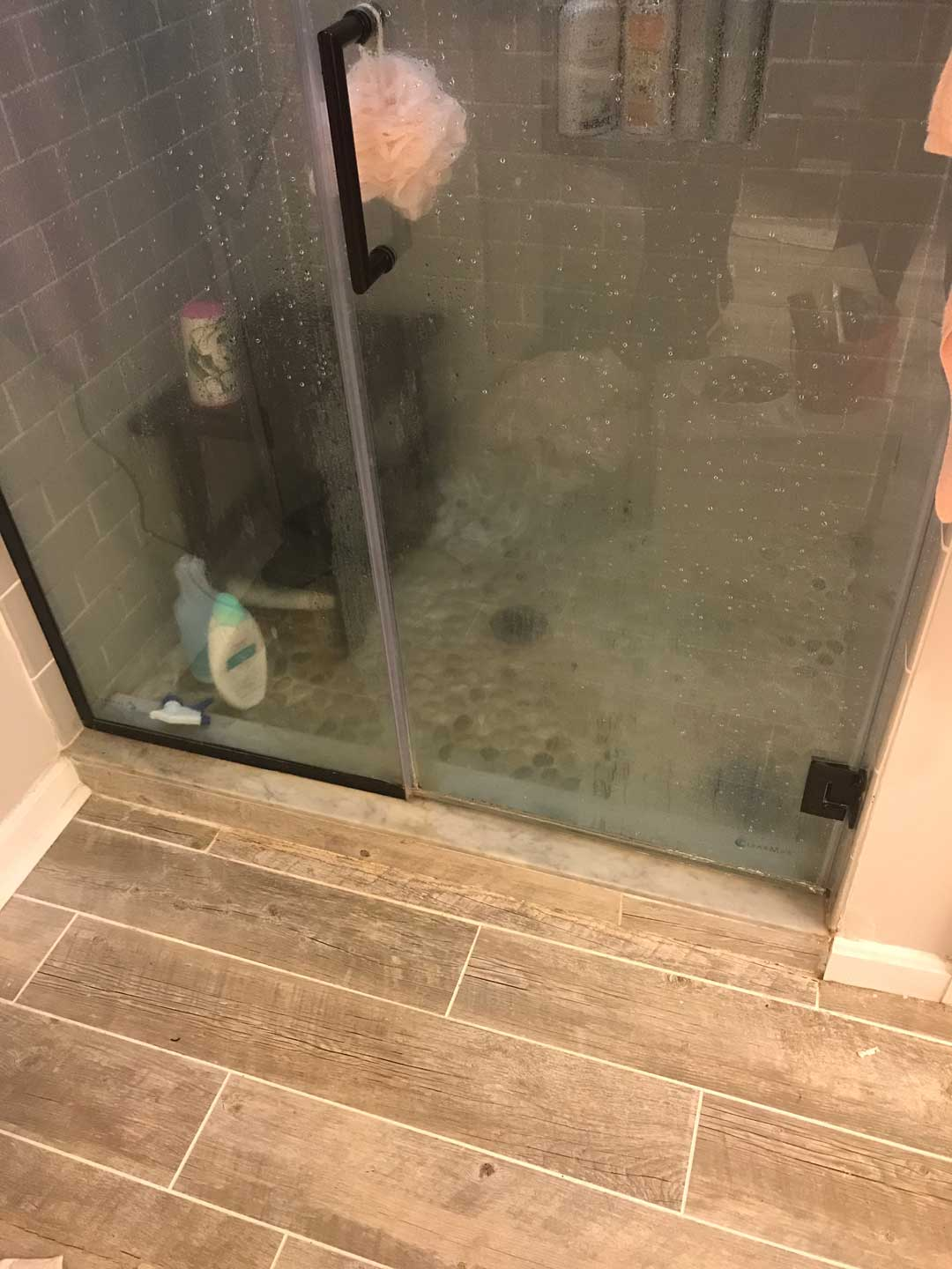 Shower with a leak